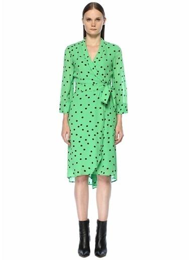 Ganni Puantiyeli Anvelop Elbise Yeşil